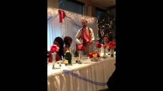 Grant Pollock amazes everyone, especially his bride!