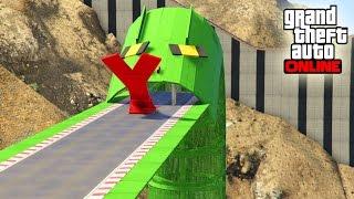 UNA SERPIENTE ME COME!!! - CARRERA GTA V ONLINE - GTA 5 ONLINE