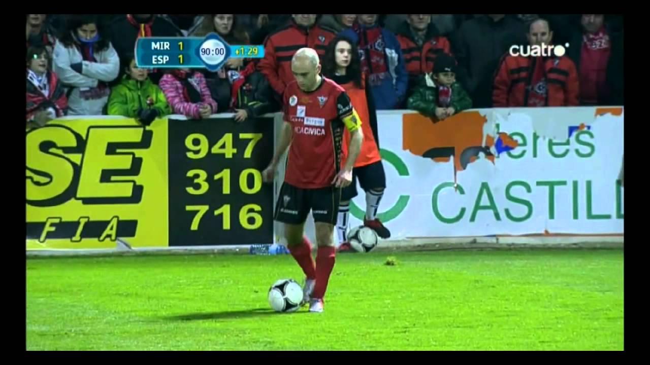 CD Mirandés 2-1 RCD Español. Cuartos de Final Copa del Rey 2011/12 ...