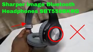 ✅  How To Use Sharper Image Bluetooth Headphones SBT558BKRG Review