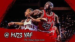 Michael Jordan vs John Starks Highlights Bulls vs Knicks (1992.03.31) - 64pts Total!