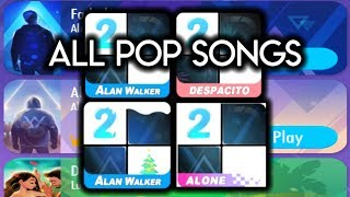 5 Pop Music Songs in Piano Tiles 2 Despacito, Despacito-Remix, Faded, Alone and The spectre