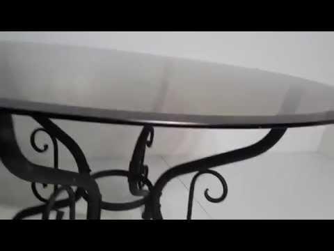 Hi Tech design Dining room table glass top