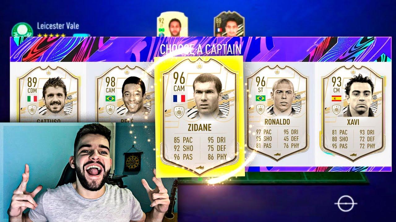 FIFA 21!! O NOVO FUT DRAFT!! VÁRIOS ICONS!!