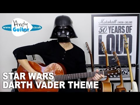 Darth Vader Theme EASY Guitar Lesson (Imperial March) Star Wars Guitar Tutorial