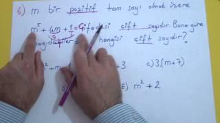 Tam Sayılar Soru Çözümü Şenol Hoca Matematik