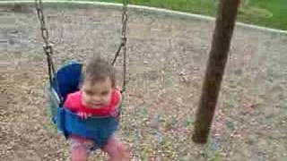 Babies Outdoor Swinging