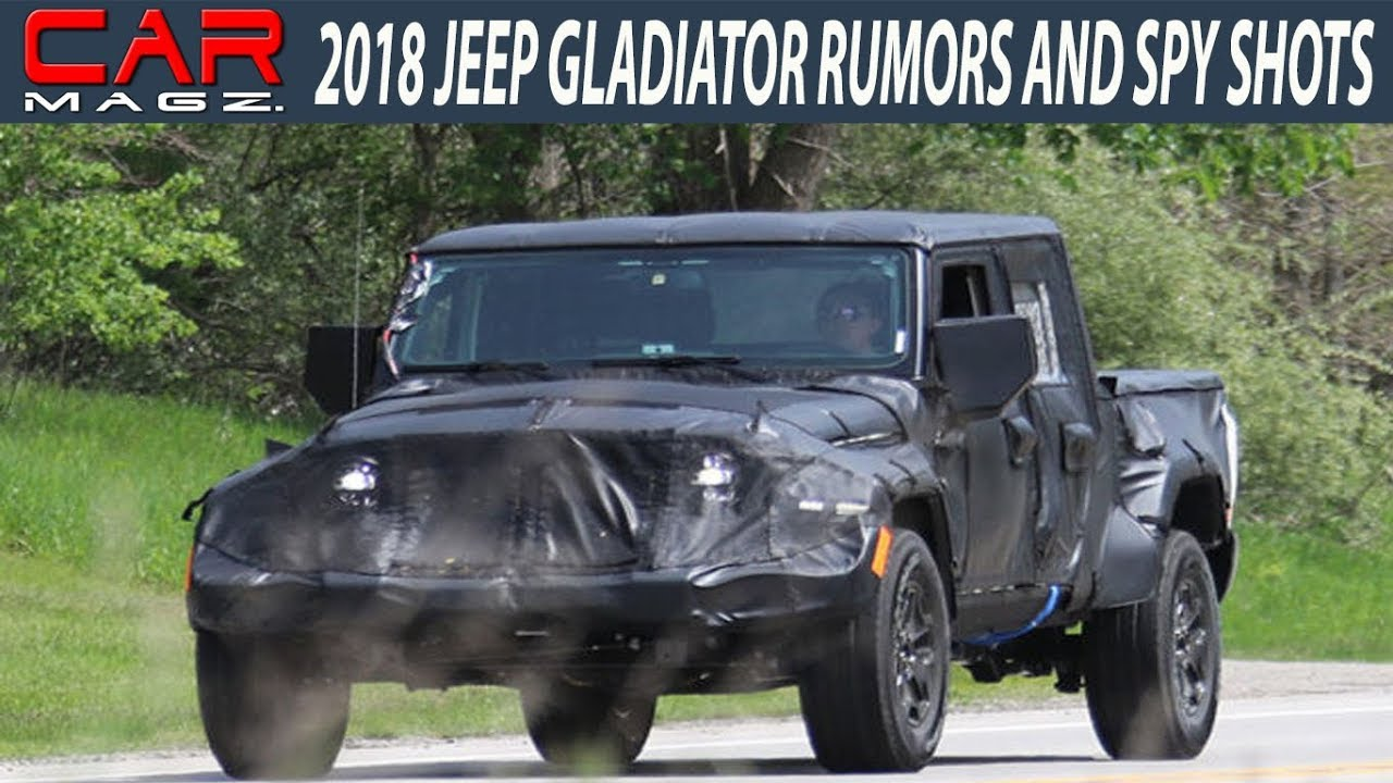 2018 jeep gladiator truck rumors and release date youtube