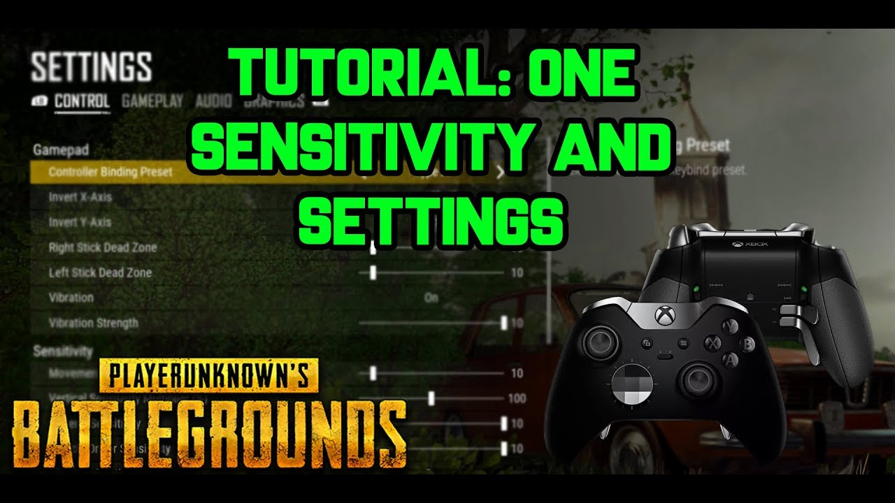PUBG XBOX ONE TUTORIAL 1 | BEST SENSITIVITY SETTINGS | CONTROLLER