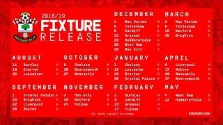 Southampton fc 2018-19 premier league fixtures announced | the ugly inside