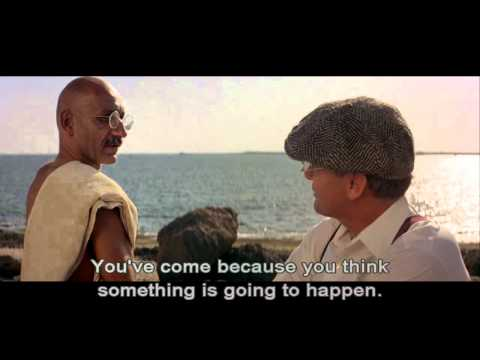"Gandhi (1982): ""He's going to march to the sea and make salt."""