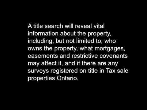 Tax sale properties Ontario