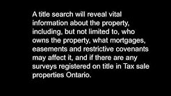 Tax sale properties Ontario