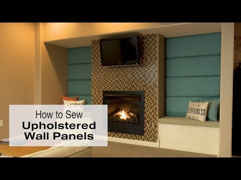 How to Make Upholstered Wall Panels