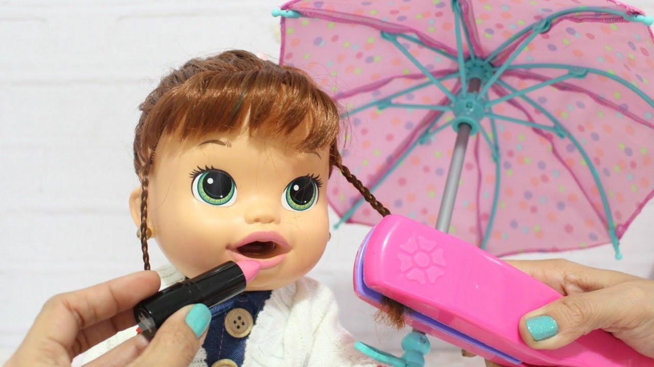 Baby Alive Arrume Se Com A Sara Comilona Para O Shopping
