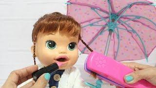 BABY ALIVE ARRUME SE COM A SARA COMILONA PARA O SHOPPING  BABY ALIVE COM ROUPA DE FRIO