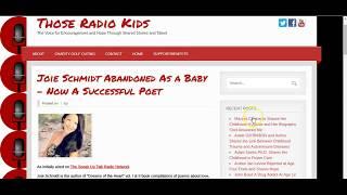 Those Radio Kids Interview with Author Joie Schmidt