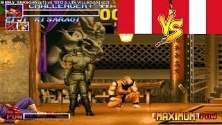 (60FPS HD) KoF 95 ► SIMBA SNK vs TITO LUIS VILLEGAS rematch …