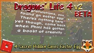 Roblox - Dragons' Life 4 v2 BETA - 4 Secret Hidden Caves Easter Egg! #22 - HD