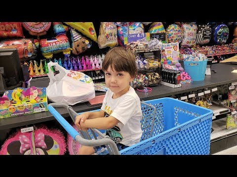 Shopping for Birthday Party at Party City Store - Zack Turns 3! Vlog