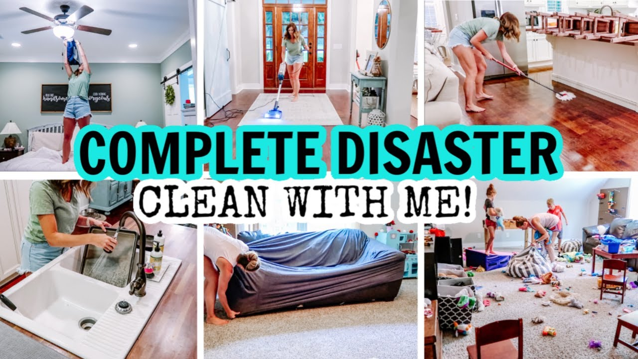 2020 COMPLETE DISASTER CLEAN WITH ME | EXTREME CLEANING MOTIVATION | CLEANING THE WHOLE HOUSE!