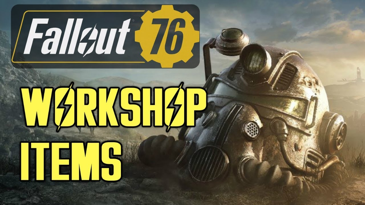 Fallout 76 All Workshop C A M P Building Items Youtube