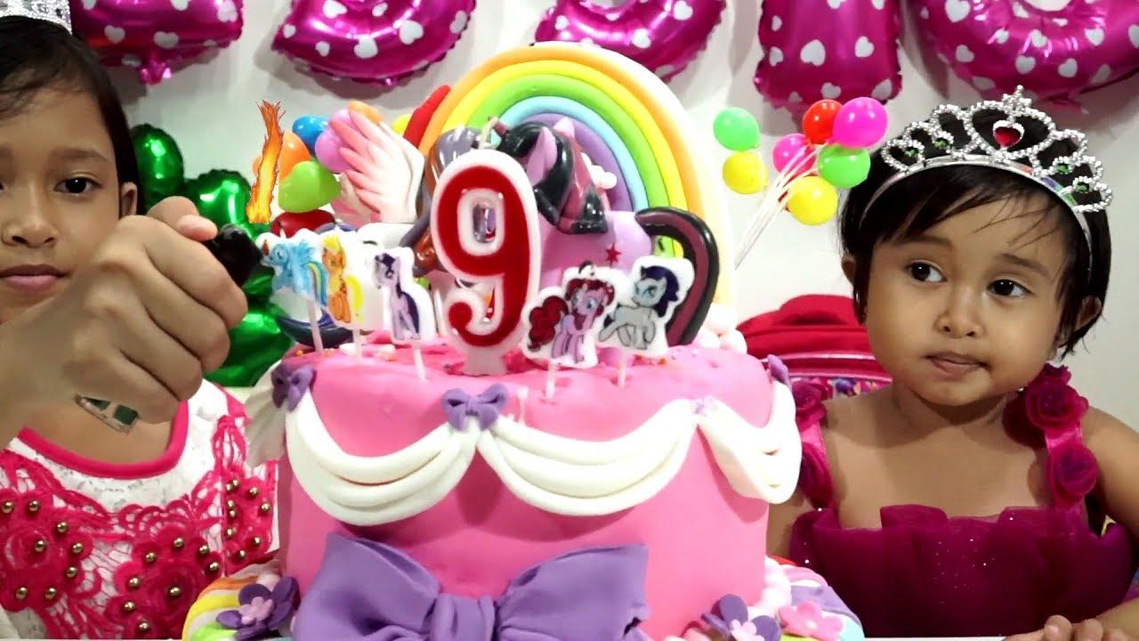 Potong Kue Ulang Tahun 💖 Brithday Rainbow Cake My Little