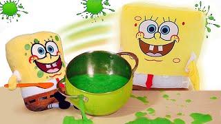 Видео приколы - Спанч Боб и Слайм вместо каши! - Супер Детки и игры для детей.