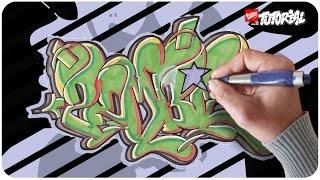 Graffiti zeichnen - Zombie Bubble Style
