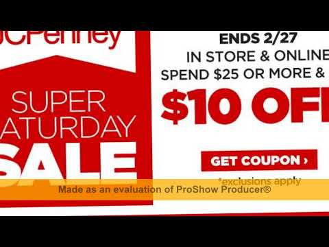 How To Get Jcp Coupons 10 Off 25 Printable 2018 Youtube