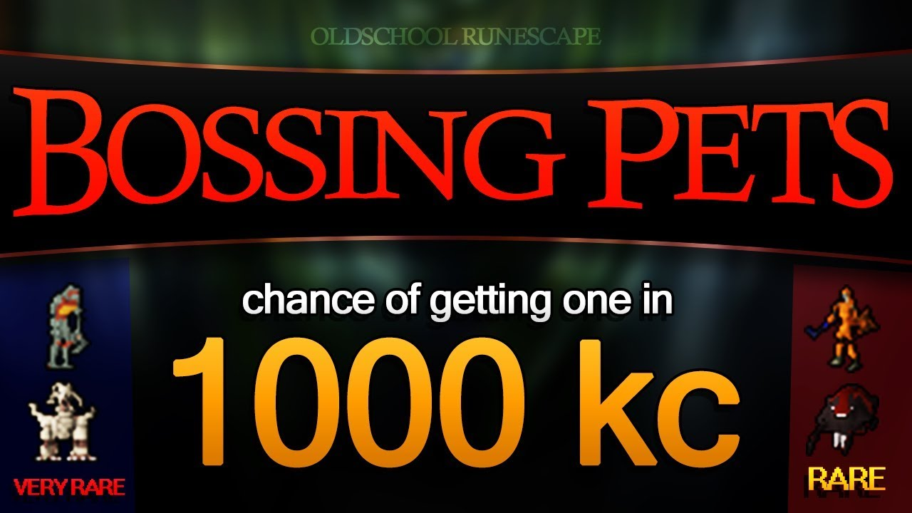 Bossing Pets (chance of getting one in 1000 kc)