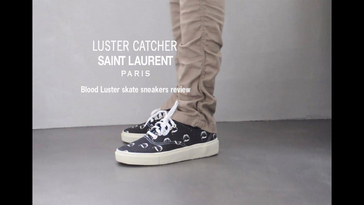 Saint Laurent blood luster canvas skate