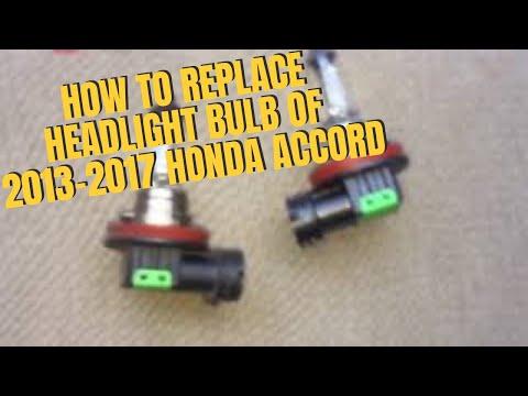 How To Replace Headlight Bulb of 2013-2017 Honda Accord