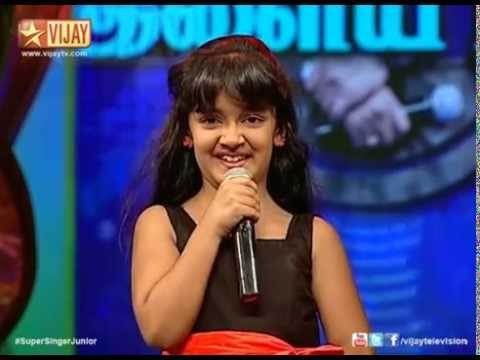 Super Singer Junior - Vizhigal Meeno by Spoorthi