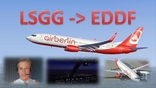 VATSIM: IFR Flight Example: Geneva to Frankfurt! - FULL ATC!!