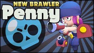 NEW BRAWLER PENNY - SNEAK PEEK! Penny Gameplay in Brawl Stars