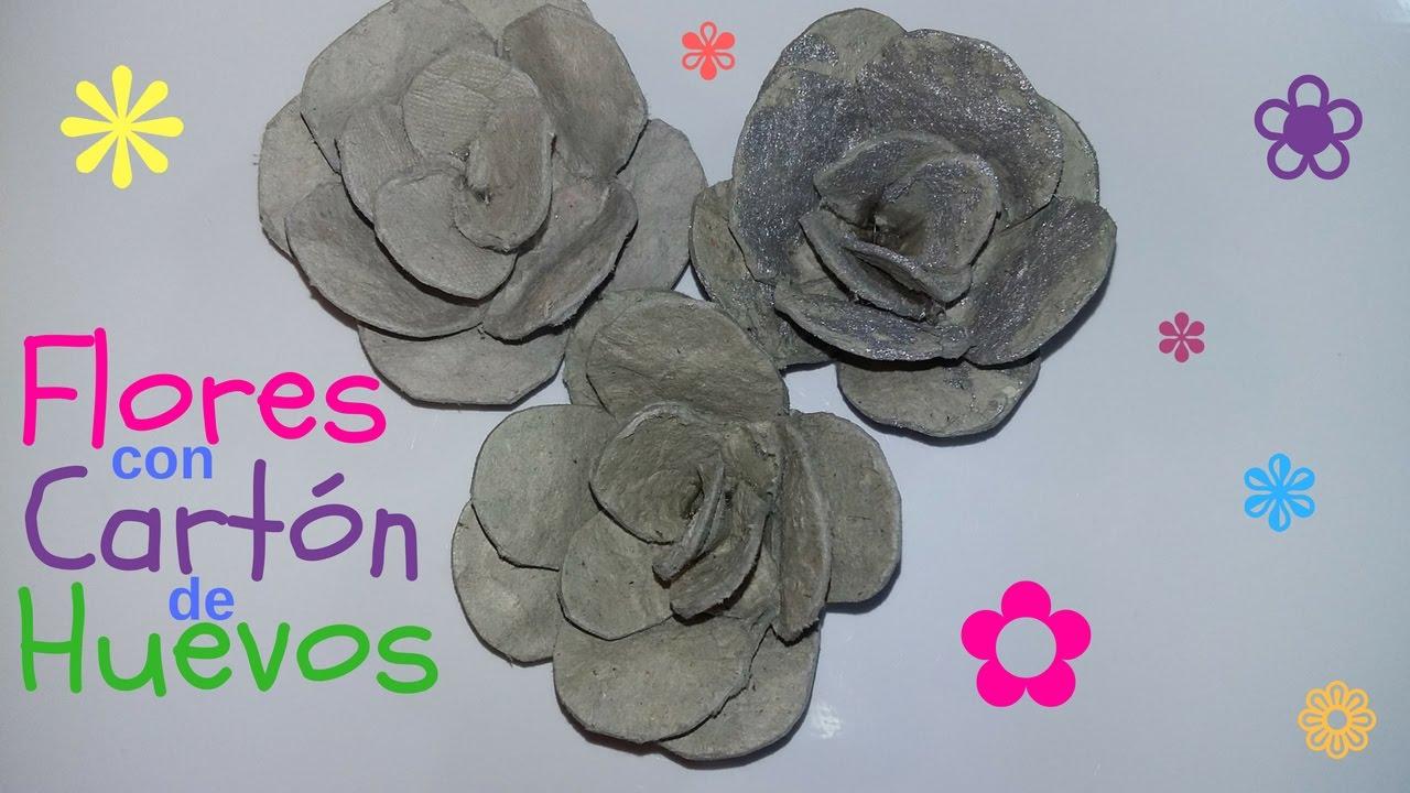 Flores De Cartón De Huevos Youtube
