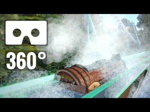 [360 video VR] Roller Coaster Water Splash Rafting simulator POV ride PSVR