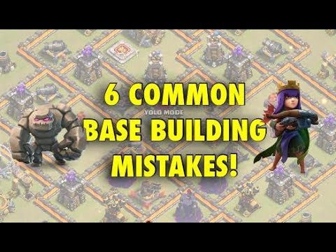 6 Common Base Building MISTAKES | Clash of Clans