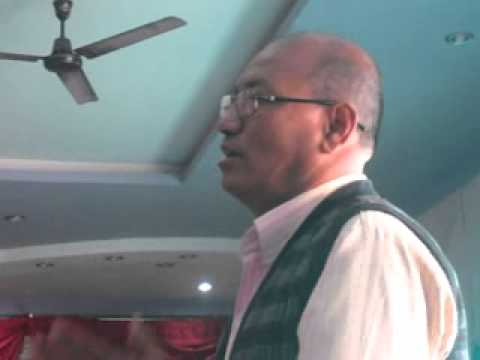 Nepali Indigenous Leader Rajendra Shrestha addressing about New political party of Nepal.