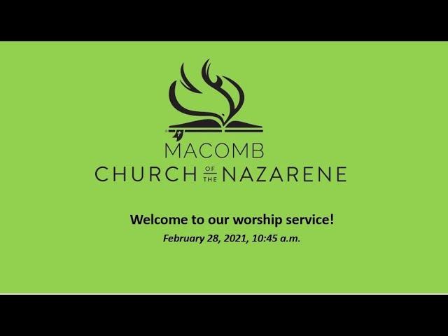 Sunday Morning Worship - February 28, 2021