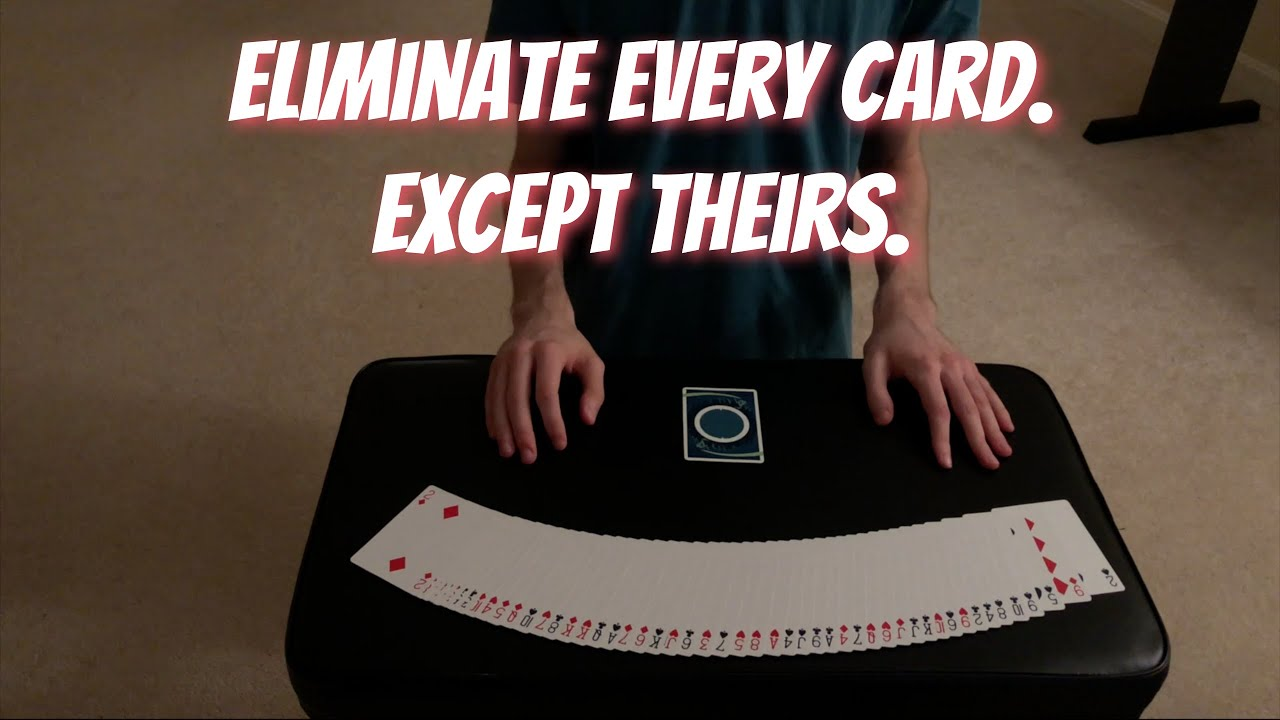 Process Of Elimination - Self Working Mathematical Card Trick - Performance/Tutorial