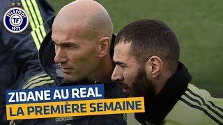 Real Madrid : la première semaine de Zidane entraîneur