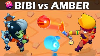 BIBI vs AMBER |🔥🆚🧟‍♀️| 30 Test | Brawl Stars