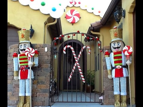 diy convert toy soldiers into gingerbread candyland christmas decorations theme - Large Life Size Toy Soldier Christmas Outdoor Decorations