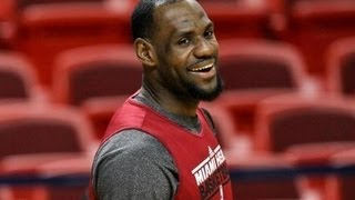 LeBron James Hits 2 Half-Court Shots In A Row After Practice