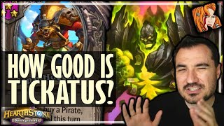 IS TICKATUS OP NOW?! - Hearthstone Battlegrounds