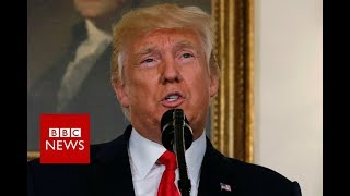Trump denounces KKK and racism in Charlottesville - BBC News