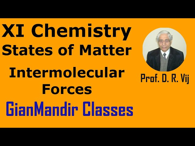 XI Chemistry | States of Matter | Intermolecular Forces by Ruchi Ma'am