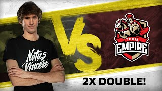 WATCH FIRST: 2X DOUBLE! by Dendi vs Team Empire @ WePlay Dota 2 League #3